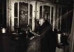 """Drepung Monastery"", Tibet, 1993, 11-1/16 x 15-1/2 Platinum Photograph, Ed. 25"