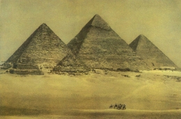 Pyramids with Camels, 1996, 24-1/2 x 35-1/2 Fresson Print, Ed. 15