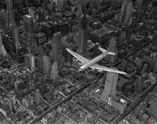 Margaret Bourke-White A DC-4 flying over New York City, 1939