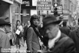 Mick Jagger, streets of London, March 1965, C-Print