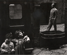 Selling Furniture in the Street, Naples, 1959, 9-1/8 x 11-3/8 Vintage Silver Gelatin Photograph