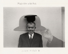 Magritte with Hat, 1965, 11 x 14 Silver Gelatin Photograph, Ed. 25
