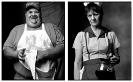 Barbeque Chef / Truck Stop Waitress, 2007 / 2002, 20 x 32-1/2 Diptych, Archival Pigment Print, Ed. 20