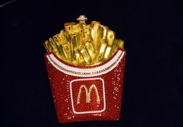 Limited-edition, Swarovski crystal–encrusted McDonald's fries purse by Kathrine Baumann, Beverly Hills, 1996, 20 x 30 inch - Archival Pigment Print - Ed. of 5