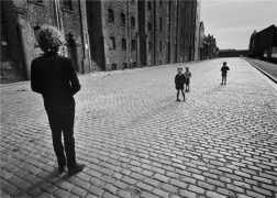 Bob Dylan, (In Street with Children), Liverpool, England, 1966, 14 x 11 Silver Gelatin Photograph