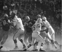 Johnny Unitas vs 49ers, Baltimore, MD, 1964, Silver Gelatin Photograph