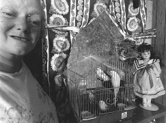 Nancy with Parakeets, 2004