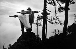 Thanksgiving Prayer, Oaxaca, Mexico 1980, 16 x 20 inches, Silver Gelatin Photograph