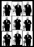 Alfred Hitchcock (Contact Sheet), Los Angeles, 1973, Archival Pigment Print