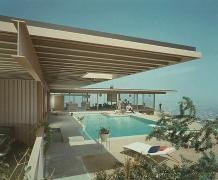 Case Study House #22, Pierre Koenig, Los Angeles, California, Color, Alternate View, 1960