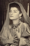 Juliet (With Veil), c. Late 1940s, 5-1/2 x 3-1/2 Silver Gelatin Photograph