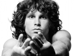 Jim Morrison (Hands stretched out towards camera), 1967, 9 x 9 Iris Print
