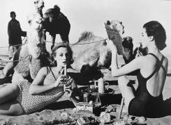 Tatiana + Mary + Camels, Morocco, 1963