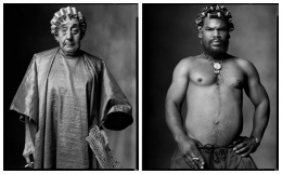 Beauty Salon Customer / Man with Curlers, 2005 / 2004, 20 x 32-1/2 Diptych, Archival Pigment Print, Ed. 20