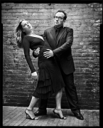 Diana Krall and Elvis Costello, New York, NY, 2003, 20 x 16 inches, Silver Gelatin Photograph, Ed. of 25