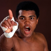 Muhammad Ali (pointing), October, 1970, 16 x 20 Color Photograph, Ed. 150