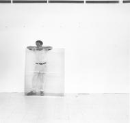Robert Rauschenberg, 1977, Silver Gelatin Photograph Mounted to Board