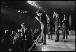 The Rat Pack (Davis, Sinatra, Martin, and Joey Bishop Applauding Shirley MacLaine), 1952