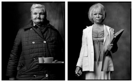 Homeless Woman / Real Estate Agent, 2004 / 2004, 20 x 32-1/2 Diptych, Archival Pigment Print, Ed. 20