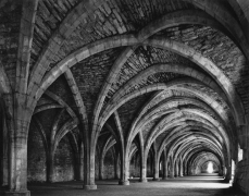 Lay Brothers Refectory, Fountains Abbey, 1980, 22 x 28 Inches, Silver Gelatin Photograph
