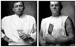 French Chef / Short Order Cook, 2006 / 1999, 20 x 32-1/2 Diptych, Archival Pigment Print, Ed. 20