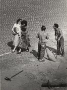 View From A Window 7, Roman Flirt, Trastevere, 1953, 9-15/16 x 7-3/10 Vintage Silver Gelatin Photograph