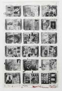Bicentennial Diaries (A), 1996, 34 1/4 x 22 1/2 Inches, Silver Gelatin Photograph with Ink