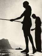 Friends Fishing, Lake Lucerne, 1937, 40cm x 30cm Silver Gelatin Photograph