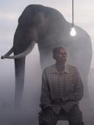 Matthew and Mak at dusk, Zimbabwe, 2020
