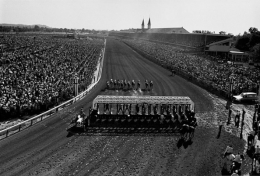 Overhead Shot of the Kentucky Derby, May, 1965, 16 x 20 Silver Gelatin Photograph