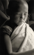 """Boy"", Mongolia, 1995, 10-3/8 x 6-5/16 Platinum Photograph, Ed. 25"
