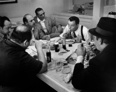 """Frank Sinatra (at Lunch), in His Dressing Room, During the Filming of """"Guys and Dolls"""", 1955"""