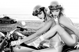 Easy Riders, Los Angeles, 2008, Silver Gelatin Photogaph