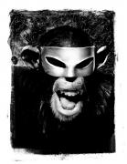Monkey with Mask, 'Graphic,'New York City, 1994, Platinum Print