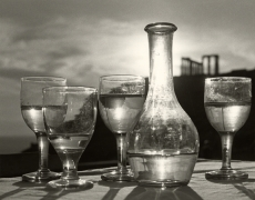 Tavern Under Poseidon Temple, Sounion, 1952, 40cm x 30cm Silver Gelatin Photograph
