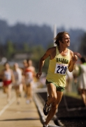 Steve Prefontaine (229) US Olympic Trials, 5000 Meter race,Hayward Field, Eugene, Oregon,1972, Color Photograph
