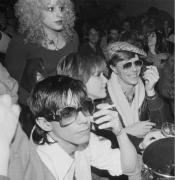 Iggy Pop, Nancy Spungen, Cyrinda Fox & David Bowie, NYC, 1977