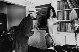 Jack Nicholson and Anjelica Huston at his Mulholland house, Time Magazine, 1974, Silver Gelatin Photograph
