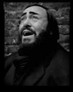 Luciano Pavarotti, New York, NY, 2005, 20 x 16 inches, Silver Gelatin Photograph, Ed. of 25