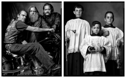 Motorcycle Gang / Altar Boys, 2004 / 2005, 20 x 32-1/2 Diptych, Archival Pigment Print, Ed. 20