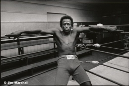 Miles Davis (in His Corner of the Ring), 1971, 11 x 14 Silver Gelatin Photograph