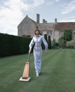 Untitled (Model Vacuuming Lawn), 1995, Archival Pigment Print