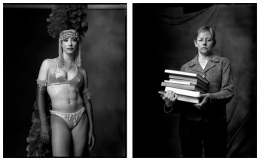 Showgirl / Librarian, 2002 / 2006, 20 x 32-1/2 Diptych, Archival Pigment Print, Ed. 20