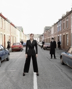 Model Watched on Street, England, 1995, Archival Pigment Print