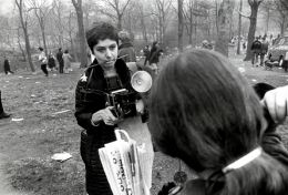 (Diane Arbus Photographing in Central Park, Daffodil in Teeth), n.d., 16 s 20 Silver Gelatin Photograph