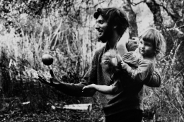 George Herms (with daughter), 1962, Archival Pigment Print