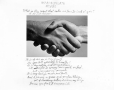 Inappropriate Desire, 1986, 11 x 14 Silver Gelatin Photograph with Hand Applied Text, Ed. 25