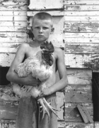 Eric with Spike the Rooster, 2001