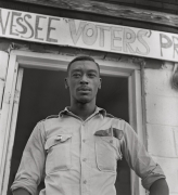 Student volunteer working to register voters, 1964-65, Archival Pigment Print