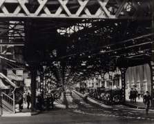 Under the El at the Battery, New York, 1936